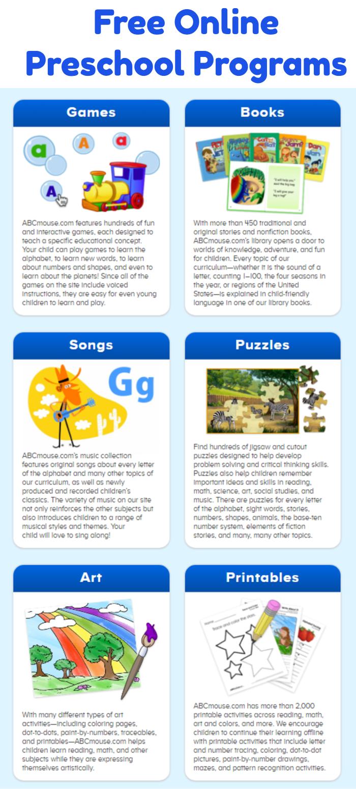 Free Online Preschool Programs