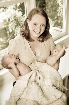 Mom Holding Twin Photo