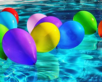 Balloons At Pool Party
