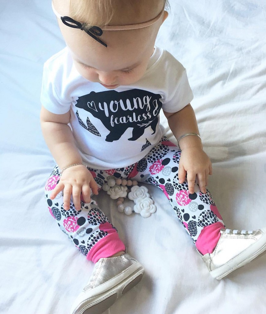 """Organic Cotton Baby Tshirt """"Young & Fearless"""""""