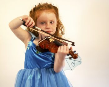 Child Playing Violin Image