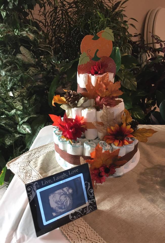 Autumn Diaper Cake