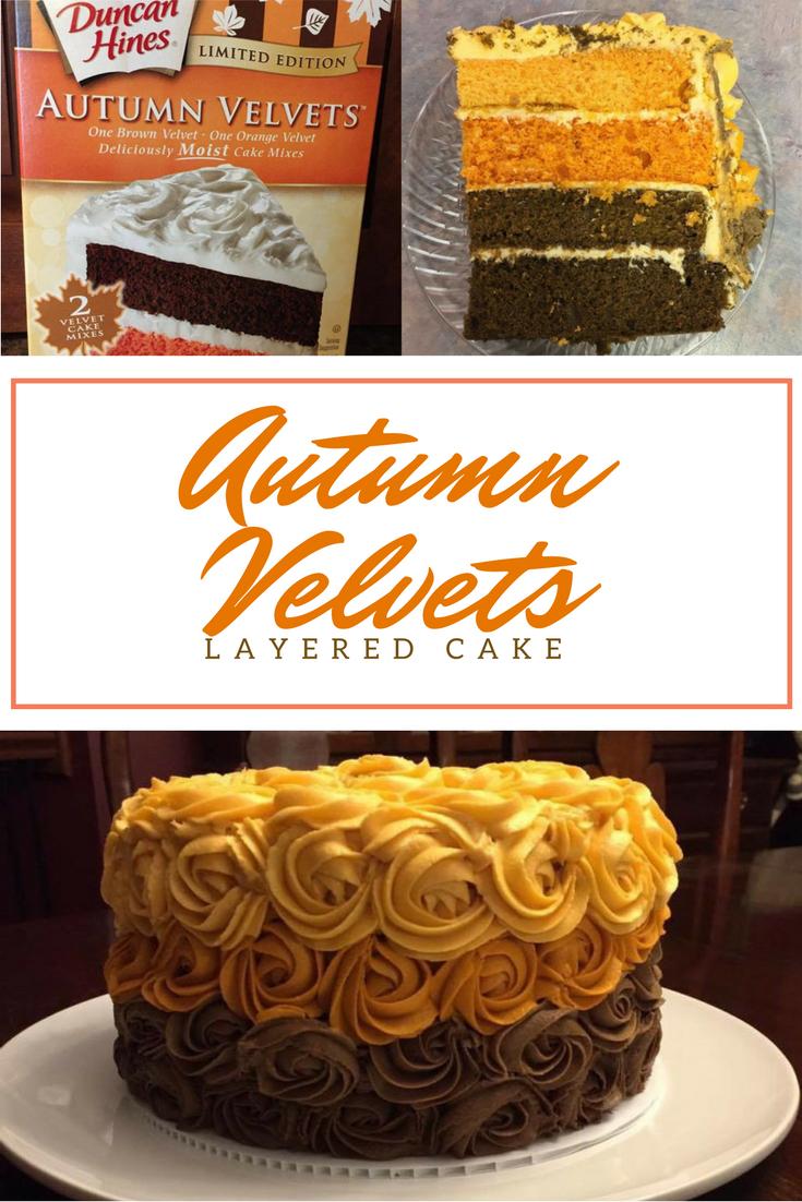 Autumn Velvets Layered Cake Recipe