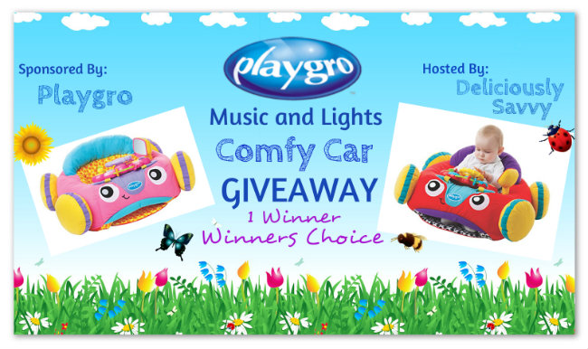 Playgro Music and Lights Comfy Car Giveaway