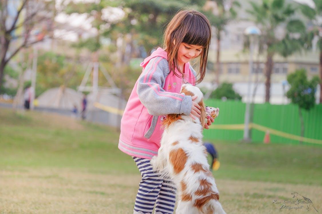 Girl with Dog